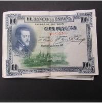 España - Lote de Billetes 100 pesetas 1925 - Lote 01