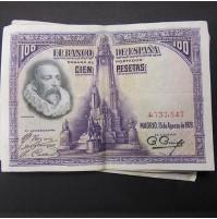 España - Lote de Billetes 100 pesetas 1928 - Lote 01