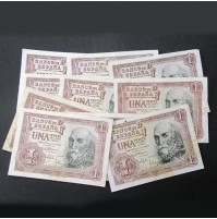 España - Lote de Billetes 1 peseta de 1953