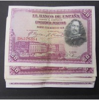 España - Lote de Billetes 50 pesetas 1928 - Lote 02