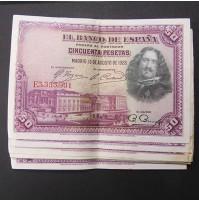 España - Lote de Billetes 50 pesetas 1928 - Lote 03