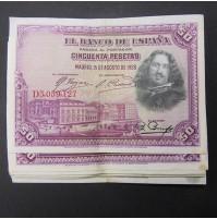 España - Lote de Billetes 50 pesetas 1928 - Lote 04