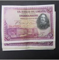 España - Lote de Billetes 50 pesetas 1928 - Lote 05