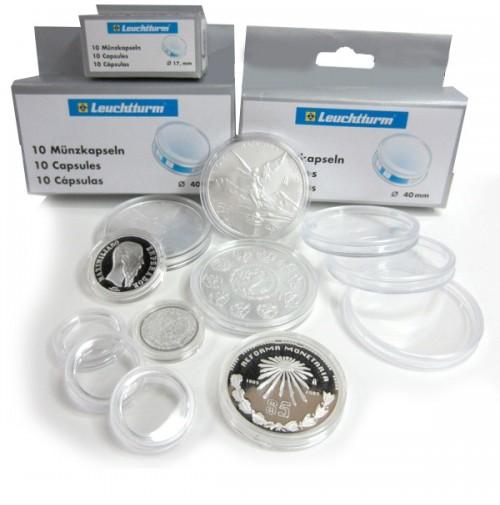 Caja de cápsulas Leuchtturm para monedas 38 mm