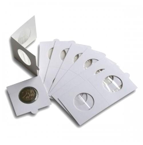 Paquete de 100 cartones para monedas 34 mm