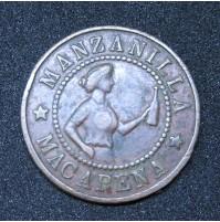 España - Medalla publicitaria de Manzanilla y Coñac