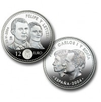España - 12 euros 2004 Plata - Felipe y Letizia