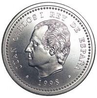 España - 2000 Pesetas 1998 Plata - Felipe II