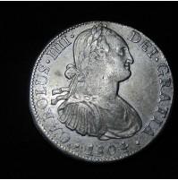 España - 8 Reales 1804 - Carlos IIII - Plata