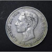España - 5 Pesetas 1878 - Alfonso XII