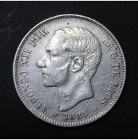 España - 5 Pesetas 1885 - Alfonso XII