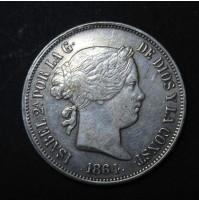 España - 20 Reales 1864 Isabel II - Madrid