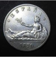 España - 5 Pesetas 1870 - Gobierno Provisional