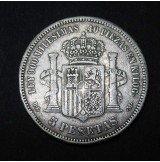 España - 5 Pesetas 1871 - Amadeo I - 18 71