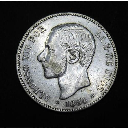 España - 5 Pesetas 1884 - 18 84 - Alfonso XII