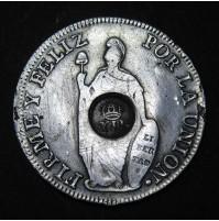 España - 8 Reales 1836 - Isabel II (Resellado)
