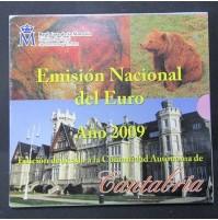 España - Emisión nacional del euro 2009 - Cantabria