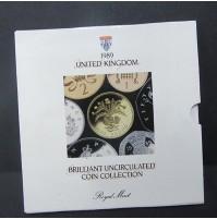 """Reino Unido - Colección """"Monedas sin circular"""" Royal Mint 1989"""