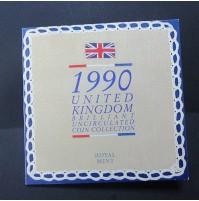 """Reino Unido - Colección """"Monedas sin circular"""" Royal Mint 1990"""