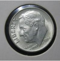 Estados Unidos (EE.UU.) - Dime Plata 1964