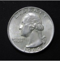 Estados Unidos (EE.UU.) - Cuarto de Dólar de 1964 de Plata