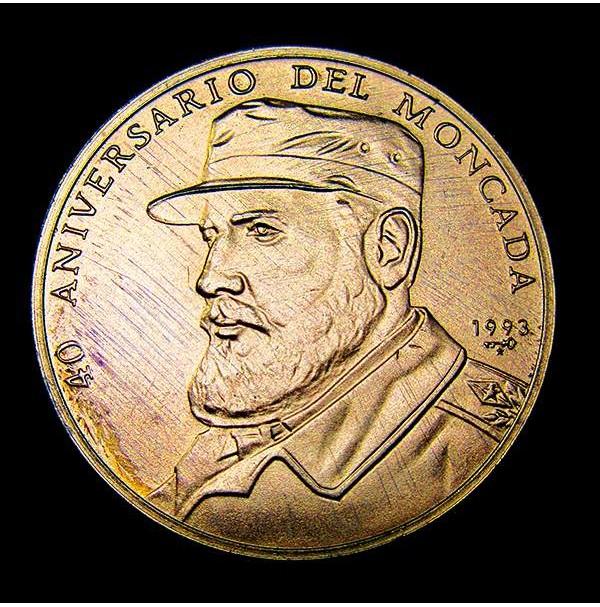 Cuba - 1 Peso 1993 Fidel Castro