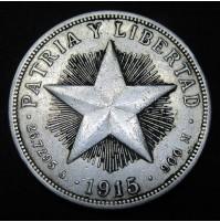 Cuba - 1 Peso 1915 Plata