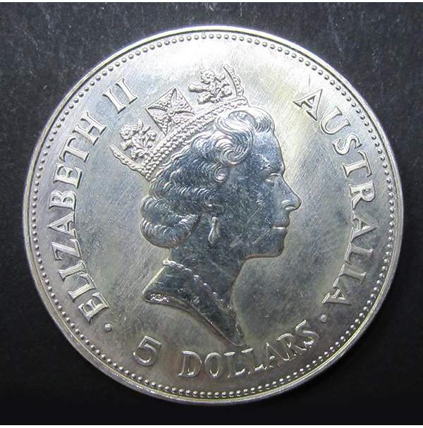 Australia - 5 Dólares de Plata 1990