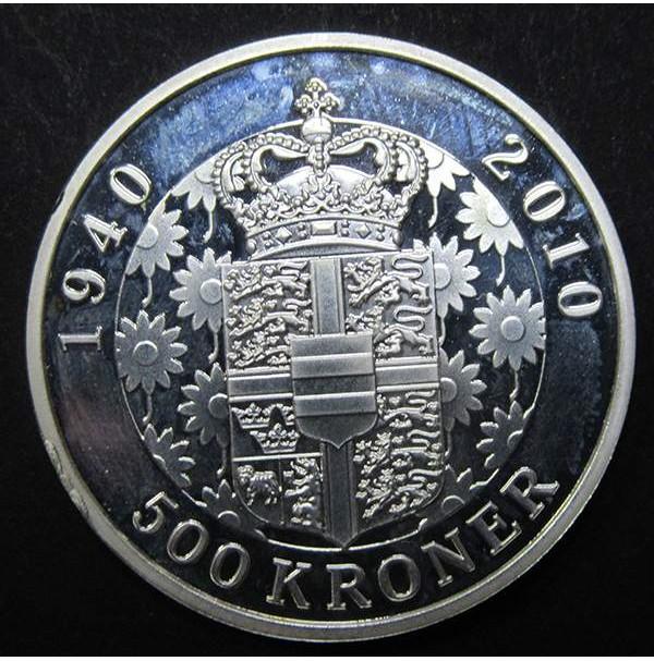 Dinamarca - 500 Coronas de Plata 2010