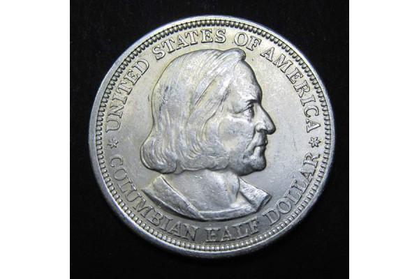 Estados Unidos (EE.UU.) - Medio Dólar 1893  Plata