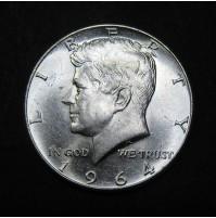 Estados Unidos (EE.UU.) - Medio Dólar 1964 Plata