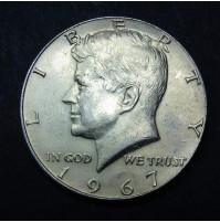 Estados Unidos (EE.UU.) - Medio Dólar 1967 Plata
