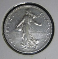 Francia - 1 Franco 1919 Plata