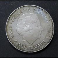 Holanda - 10 Gulden (Florines) de Plata de 1973