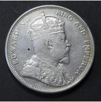 Straits Settlements - 1 dólar de 1904 de plata