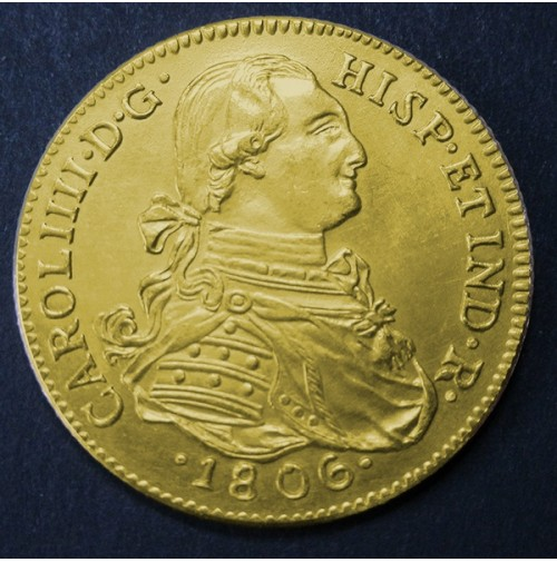 España - 8 Escudos de oro 1806 (Réplica)