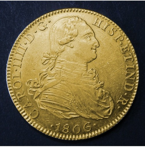 España - 8 Escudos de oro 1806 México