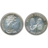 Bermuda - 1 Dólar de Plata 1972