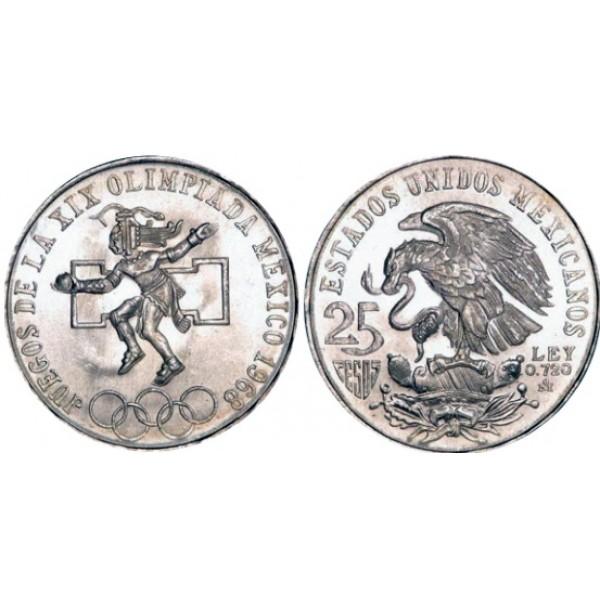México - 25 Pesos de Plata 1968