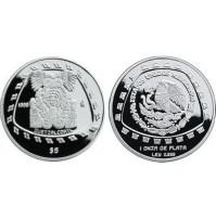 México - 5 Pesos de Plata 1998 - Quetzalcóatl