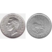 Sudáfrica - 5 Chelines (Shillings) 1951 Plata