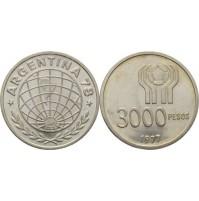Argentina - 3000 pesos (ARL) de Plata de 1977