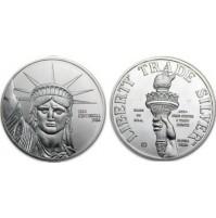 Estados Unidos (USA) - 1 Onza de plata pura (0.999) de 1986