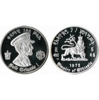 Etiopía - 5 Birr de Plata 1972