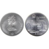 Canadá - 5 Dólares de Plata 1973
