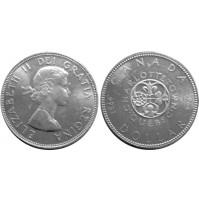 Canadá - 1 Dólar de Plata 1964