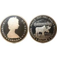 Canadá - 1  Dólar de Plata 1985 - National Parks