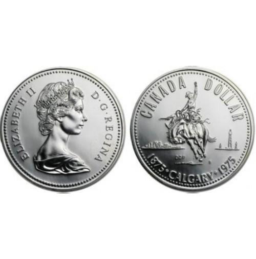Canadá - 1 Dólar de 1975 de Plata