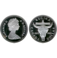 Canadá - 1 Dólar de Plata de 1982 - Regina