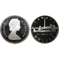 Canadá - 1 Dólar de Plata 1984 150 Aniversario de Toronto